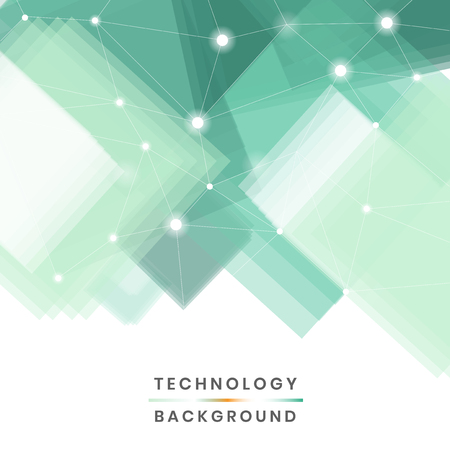 Green and white futuristic technology background vector Banco de Imagens - 118544354