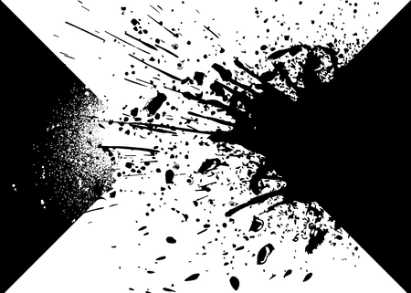 Design elements with ink splashes vector