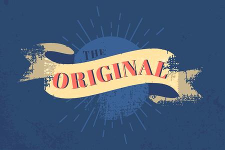 The original vintage banner vector Çizim