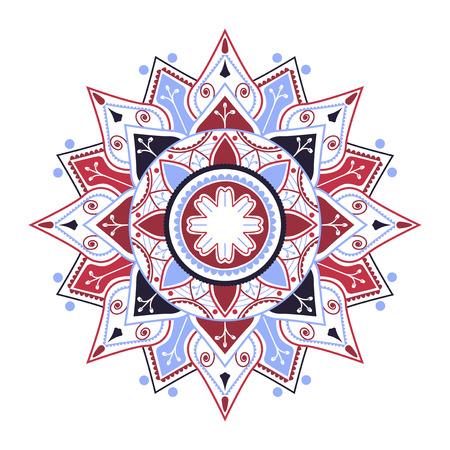 Colorful mandala pattern on white background