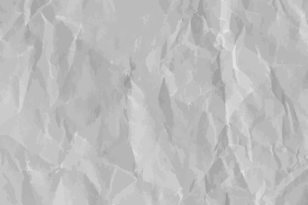 White crumpled paper textured background vector Banco de Imagens - 124609900