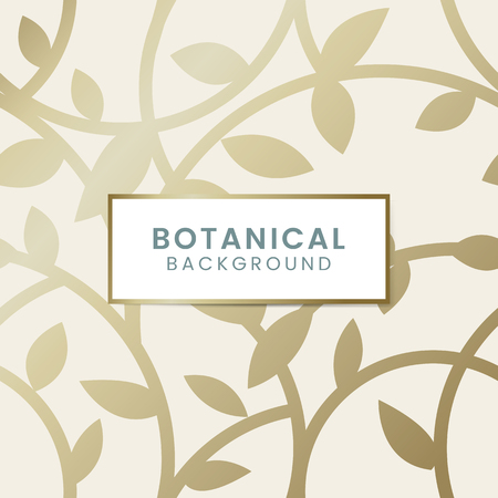Gold botanical pattern background vector 向量圖像