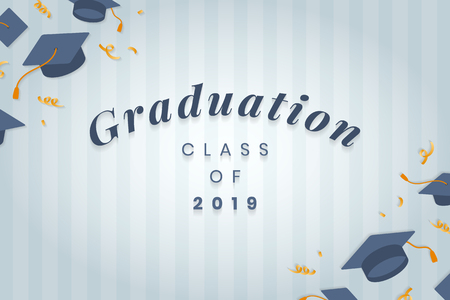 Graduation class of 2019 vector Ilustração