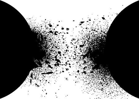 Background with ink splashes background Illusztráció