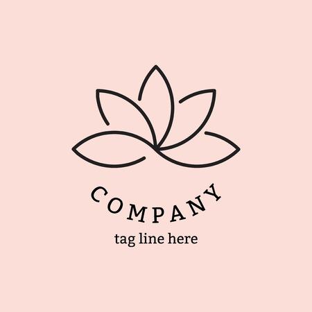 Modern company logo design vector Illustration
