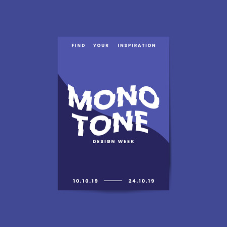 Monotone design week flyer and poster template vector