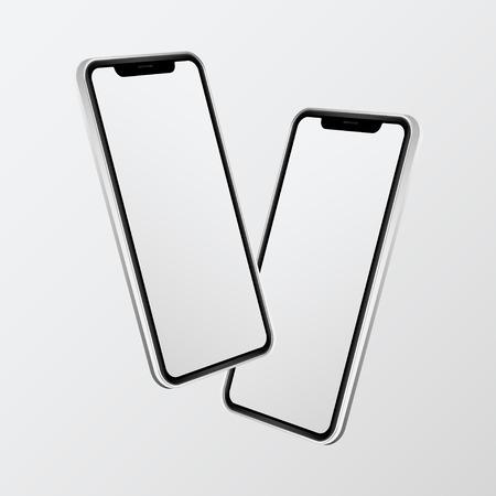Two mobile phone screen mockup