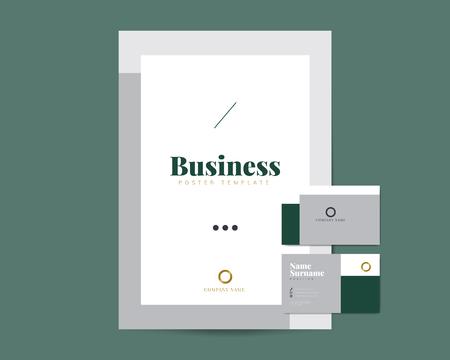 Flyer corporativo y vectores de plantilla de tarjeta de presentación