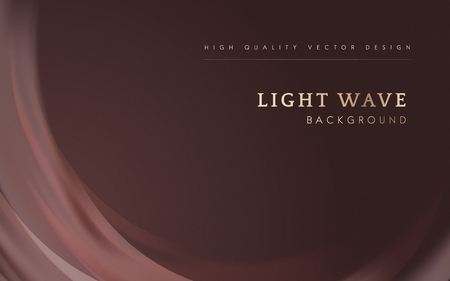 Rosewood pink light wave border background Vettoriali