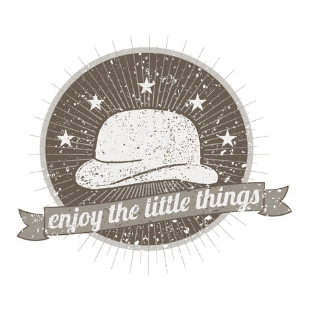 Enjoy the little things badge vector