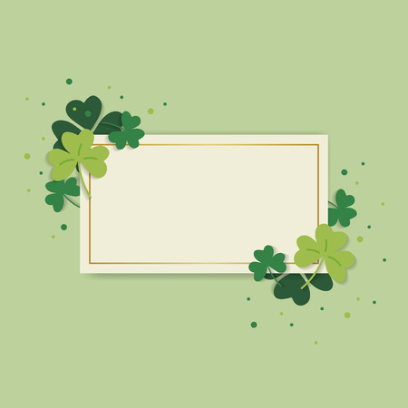 St.Patrick's Day blank rectangle banner vector