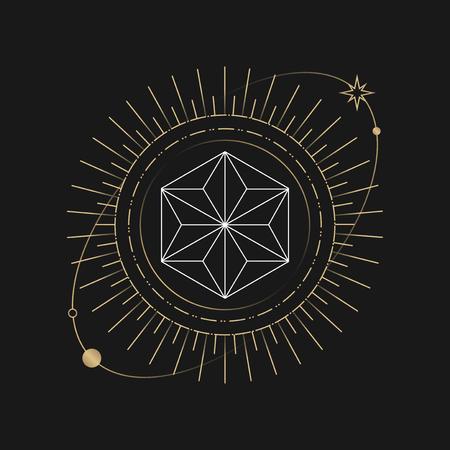 Geometric star mystic symbol vector