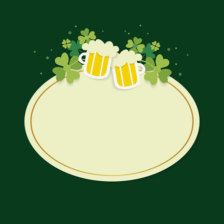 St.Patrick's Day blank oval badge vector