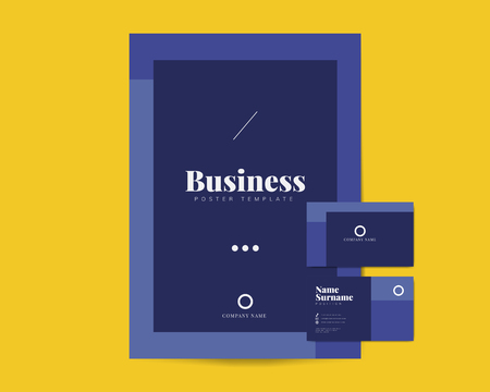 Corporate flyer and name card template vectors Illustration