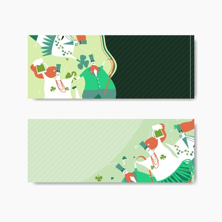 St. Patrick's Day banners vector
