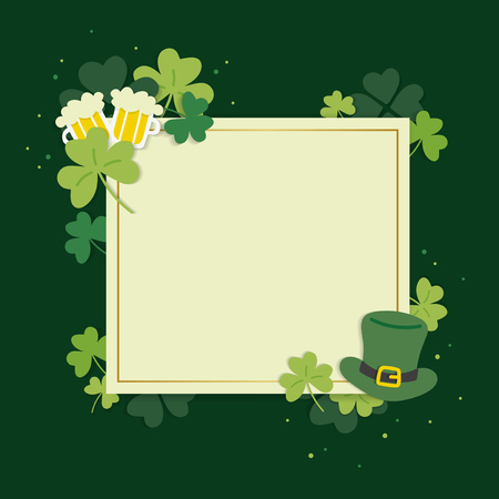 St.Patrick's Day blank square banner vector Stock Vector - 118544532