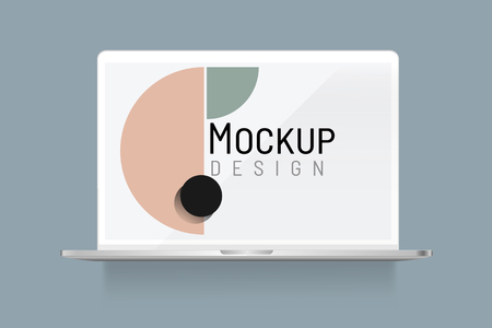 Abstract design on a laptop screen mockup