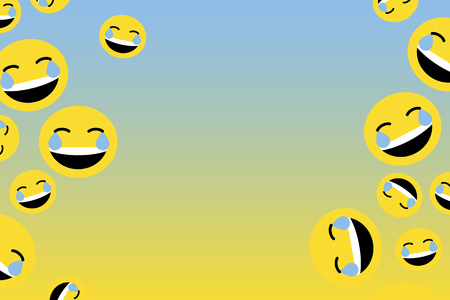 Emoji with tears of joy collection vector