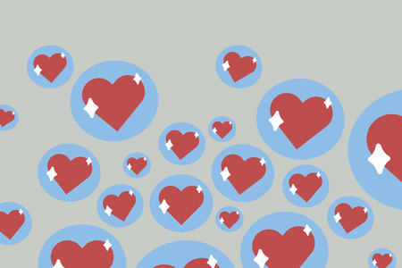 Red heart shaped emoji vector