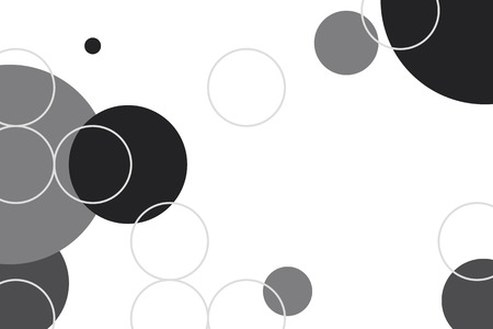 Black and white circle geometric pattern background vector 向量圖像