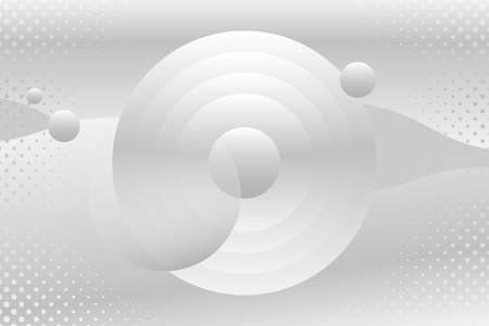 White and gray geometric abstract patterned background vector