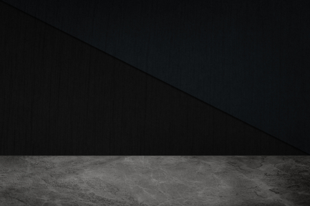 Dark cement wall with gray marble floor product background