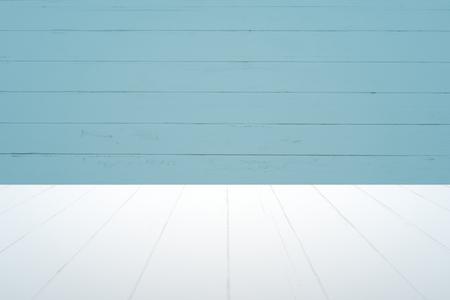 Plain blue planks product background Banco de Imagens