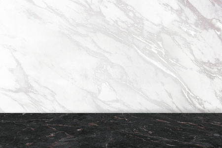 White and black marble pattern product background