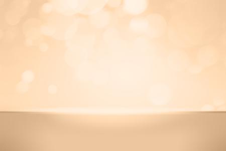 Orange bokeh textured plain product background Stockfoto - 118718758