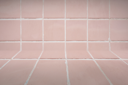 Pastel pink tiles patterned product background