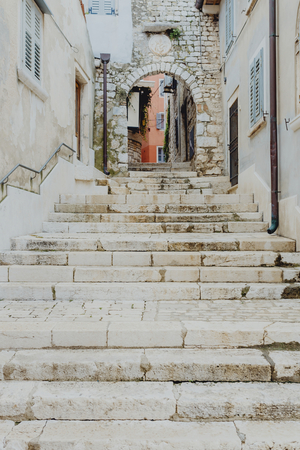 Narrow stone steps in Croatia 版權商用圖片