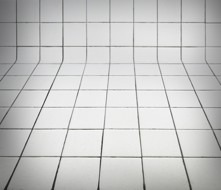 White tiles patterned product background Stock Photo