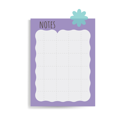 Cute white note paper vector
