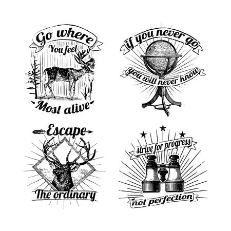 Set of vintage badges vector 版權商用圖片 - 118927590