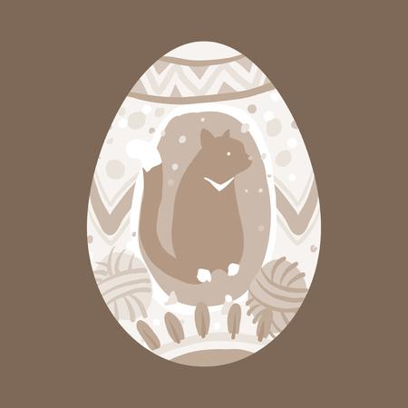 Easter festival painted egg vector Zdjęcie Seryjne - 118927595