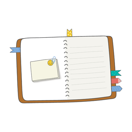 Blank agenda with labels