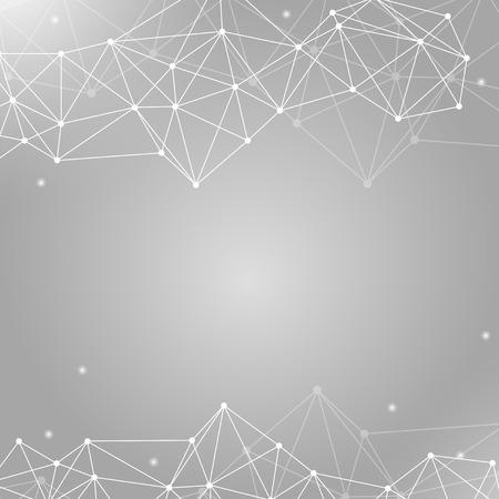 Gray neural texture abstract vector
