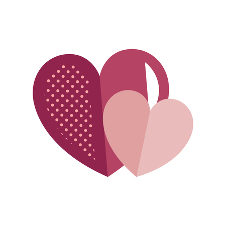 Valentine's Day heart icon vector