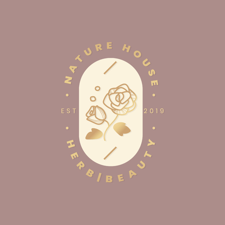 Nature house herb beauty vector