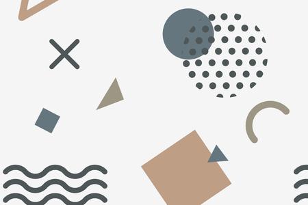 Faded Memphis patterned background vector Illusztráció