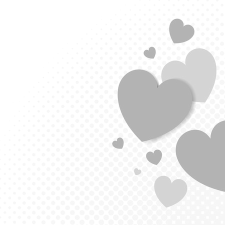 Gray hearts background design vector 스톡 콘텐츠 - 118927648