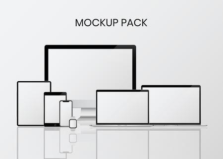 Pack de maquettes d'appareils numériques modernes