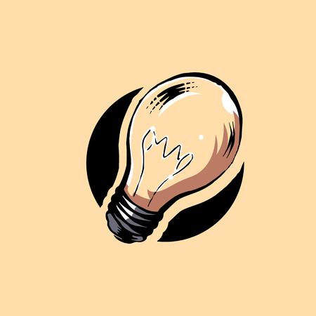 Light bulb graphic illustration icon vector