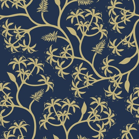 Nature seamless patterned background vector