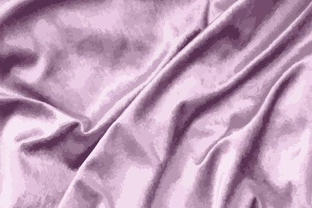 Luxury shiny pink silk fabric textured vector Foto de archivo - 124355472