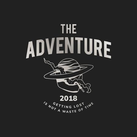 The adventure vintage logo vector