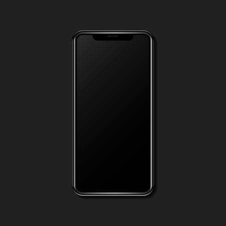 Digital mobile phone screen mockup