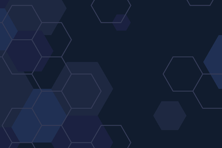Blue hexagon geometric pattern background vector 向量圖像