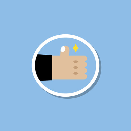 Blue thumbs up emoji vector Иллюстрация