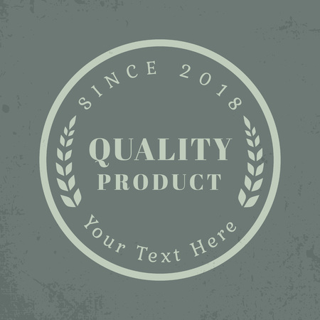 Vintage quality product logo vector